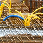 Baustahlarmierung auf Baustellen