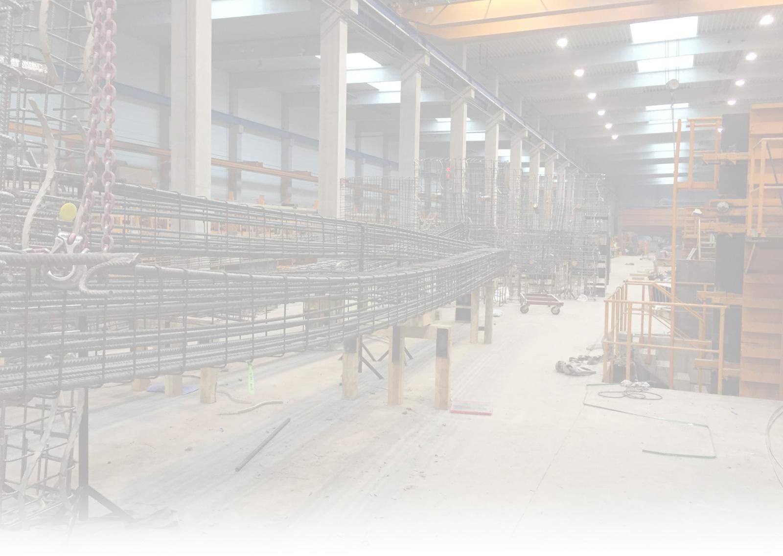 Bewehrung, Bewehrungsbau, Eisenbewehrung von Betonstahl Halle GmbH, im Werk und auf Außenbaustellen