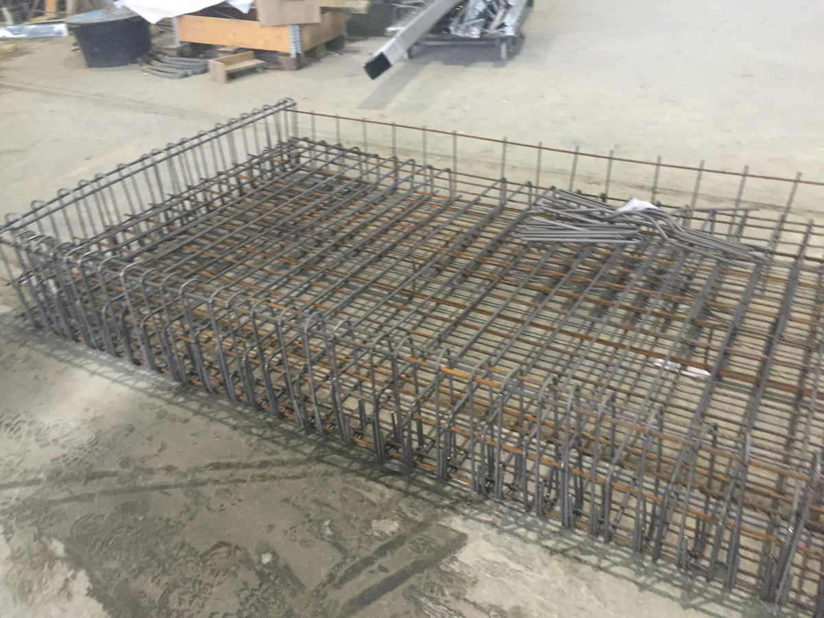 Betonstahl, Stahlbau, Bewehrungskorb, Bewehrungsgeflecht von Betonstahl Halle GmbH, im Werk und auf Außenbaustellen