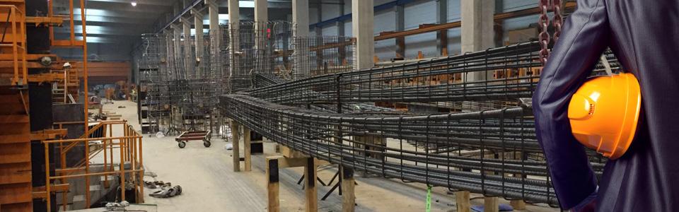 Betonstahl Halle GmbH - Eisenflechterarbeiten im Werk für Betonfertigteile